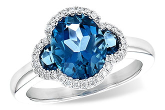 L208-42421: LDS RG 3.04 TW LONDON BLUE TOPAZ 3.20 TGW