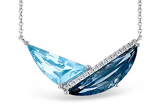 M291-12421: NECK 4.66 BLUE TOPAZ 4.75 TGW